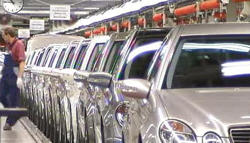 Výroba mercedesů