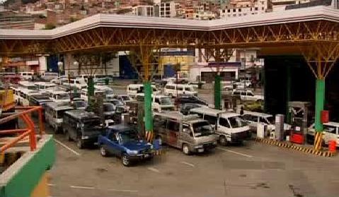 Bolivijská čerpací stanice