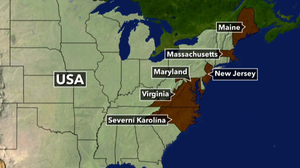 Sněhová bouře ochromila severovýchod USA