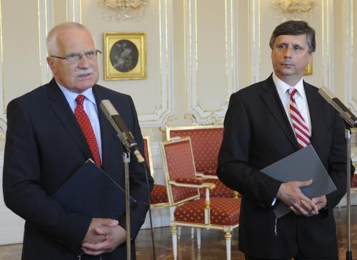 Václav Klaus, Jan Fischer