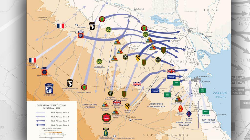 Operace pouštní bouře v roce 1991