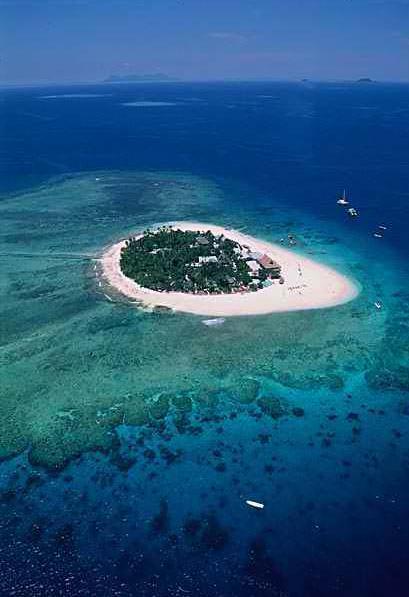 Korálový ostrůvek v Jižním Pacifiku