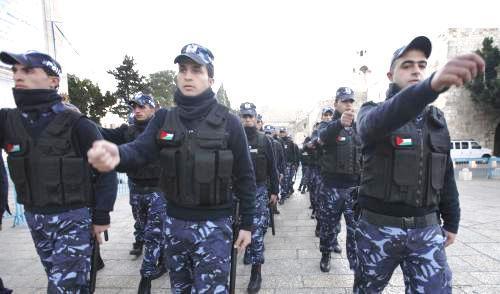 Palestinská policie dohlíží na bezpečnost v Betlémě