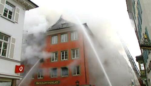 Požár v Husově ulici v Kostnici