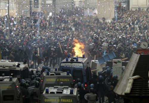 Protesty italských studentů