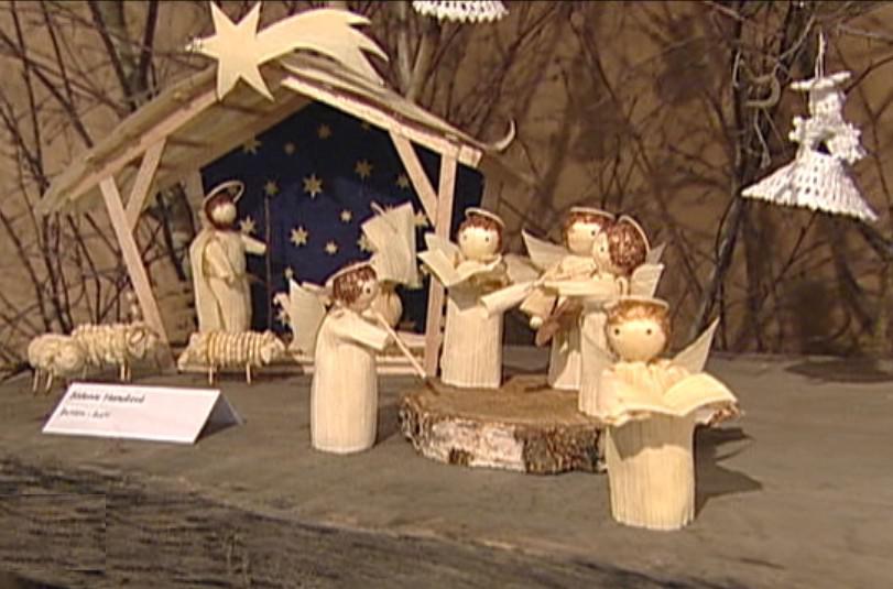 Z výstavy Skleněné Vánoce