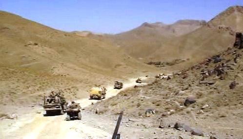 Vojenský konvoj v Afghánistánu