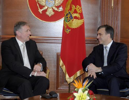 Mirek Topolánek a Milo Djukanovič
