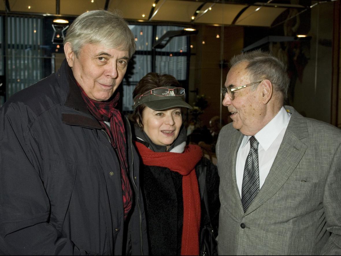 Josef Abrhám, Libuše Šafránková a František Filip