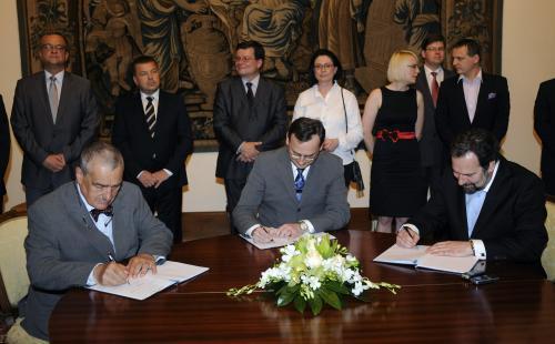 Podpis koaliční smlouvy