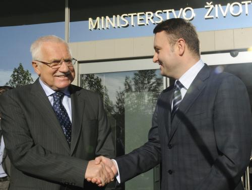 Václav Klaus a Pavel Drobil