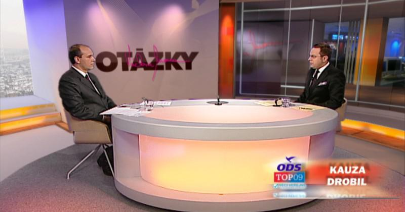 Libor Michálek a Václav Moravec ve studiu ČT24