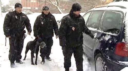 Litvínovští strážníci při běžné kontrole