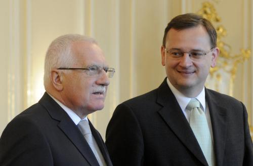 Setkání Petra Nečase s prezidentem