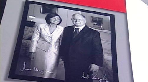Lech a Maria Kaczyńští