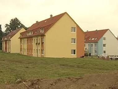 Nové bytové domy v Rudolticích