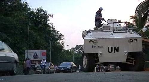 Vojáci Spojených národů v Abidžanu