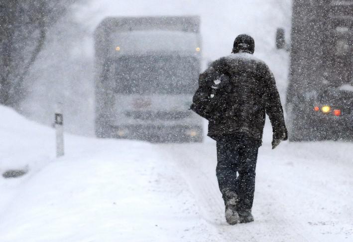 Česko zasáhlo husté sněžení