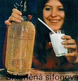 Sifonová láhev z minulého století