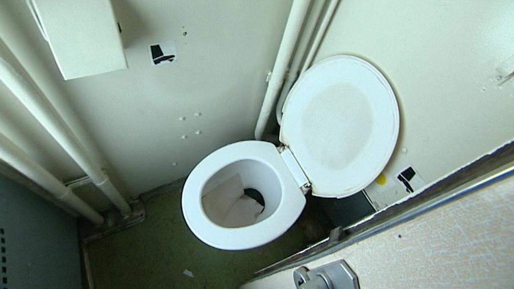 Toaleta ve vagonu ČD