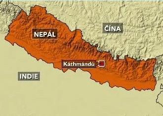 Mapa Nepálu