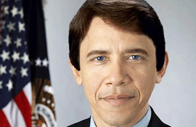 Barack Obama jako běloch