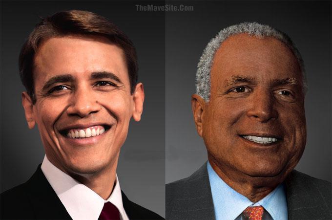 Bílý Obama a černý McCain