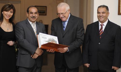 Václav Klaus a zástupci romských sdružení