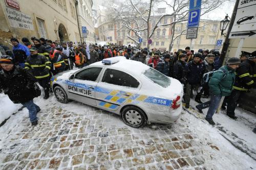 Demonstrace hasičů a policistů