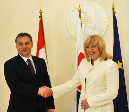 Viktor Orbán s Ivetou Radičovou