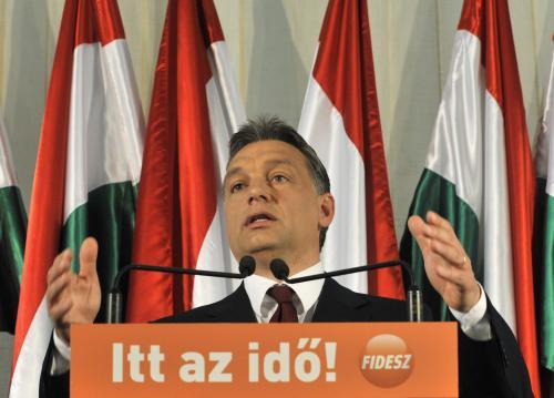 Předseda strany Fidesz Viktor Orbán