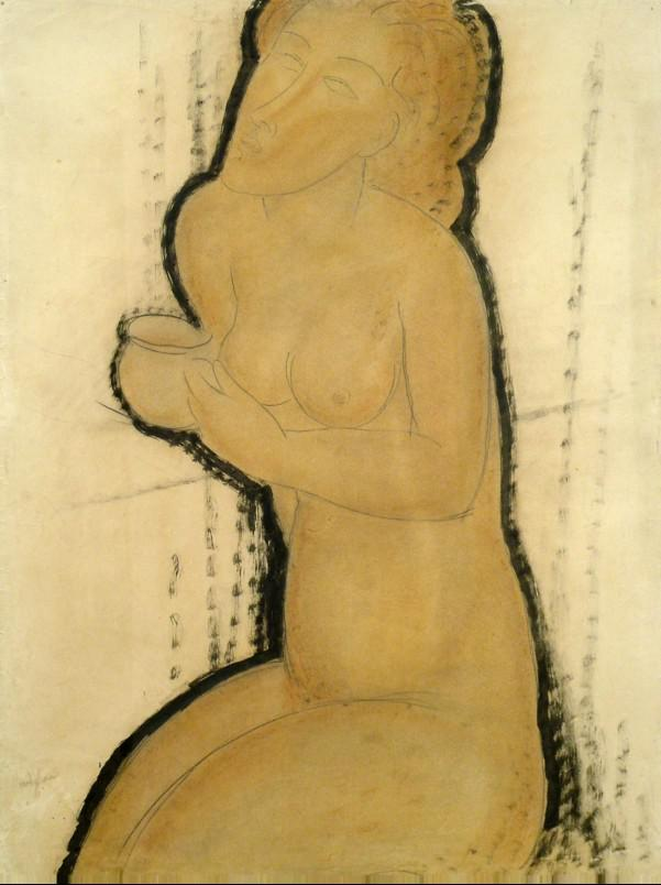 Amedeo  Modigliani / Nude with Cup 1918