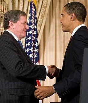 Richard Holbrook s prezidentem Obamou