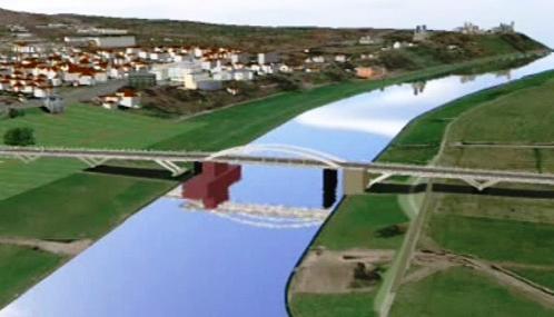 Projekt drážďanského mostu Waldschlößchenbrücke