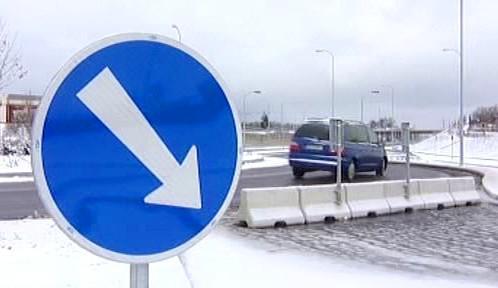 Rozestavěný úsek tzv. Zanádražní silnice