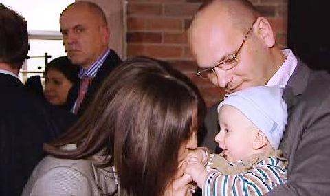 Hedviga Malinová se svou rodinou