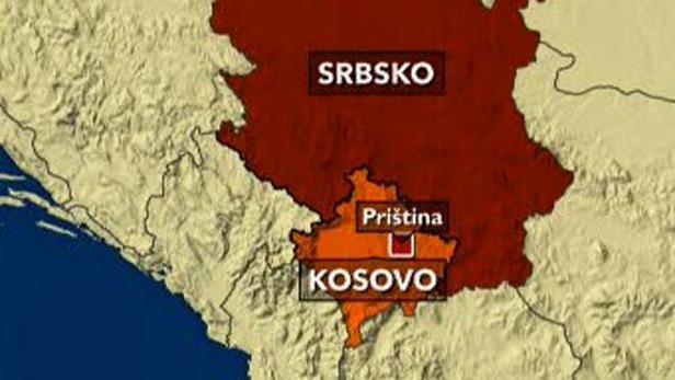 Mapa Srbska a Kosova