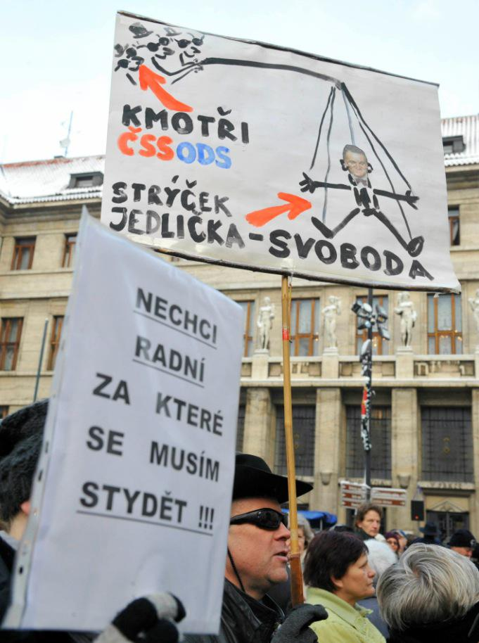 Demonstrace proti pražské koalici