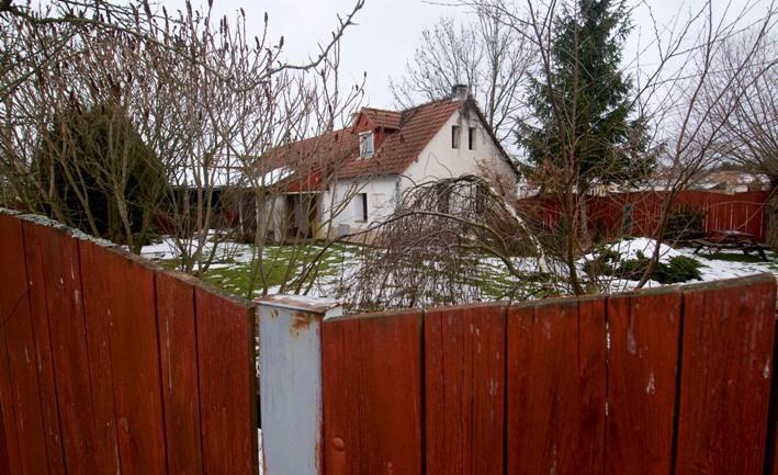 Dům, kde žili lupiči, kteří se pokusili přepadnout banku v Karlsruhe