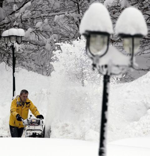 Přívaly sněhu v Německu