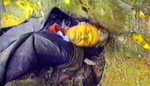 Popravený Nicolae Ceaušescu