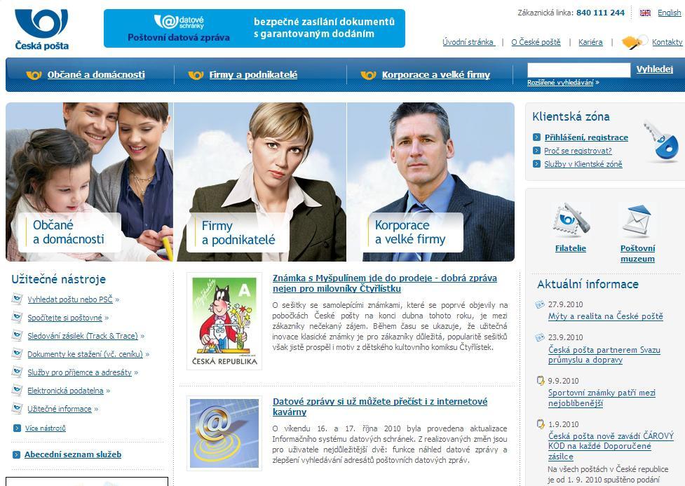 Web České pošty