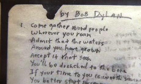 Text Dylanovy písně