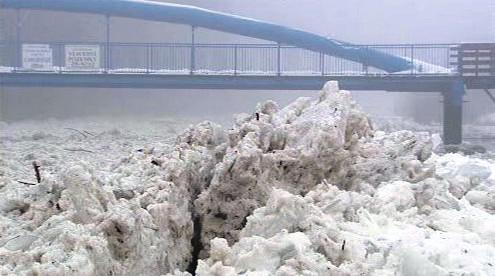 Ledové kry na Otavě