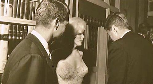 Bratři Kennedyové s Marilyn Monroe