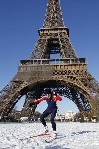 Běžecká trať u Eiffelovy věže