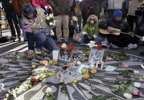 30. výročí smrti Johna Lennona v New Yorku