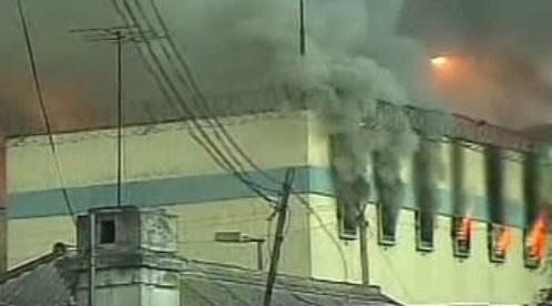 Hořící chilská věznice