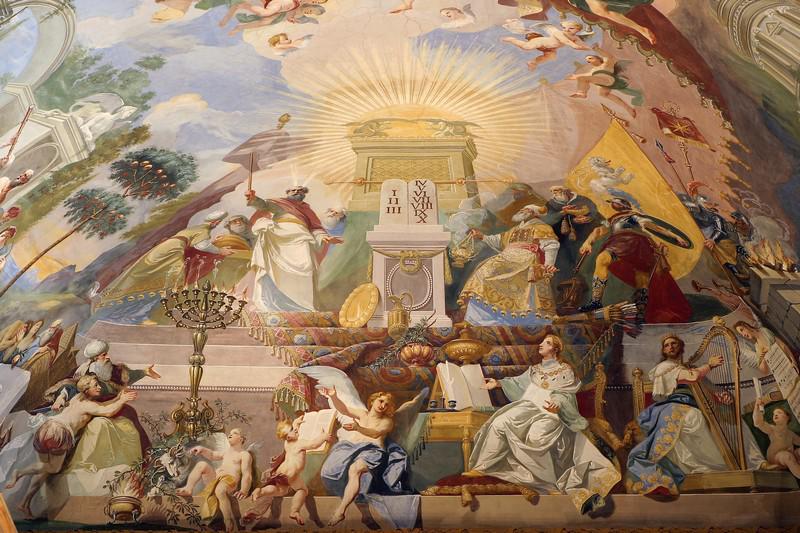 Nástropní malba ve Filozofickém sále