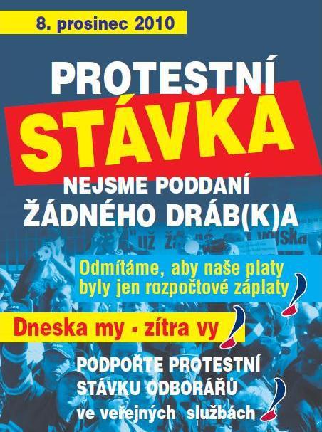 Plakát k protestní stávce